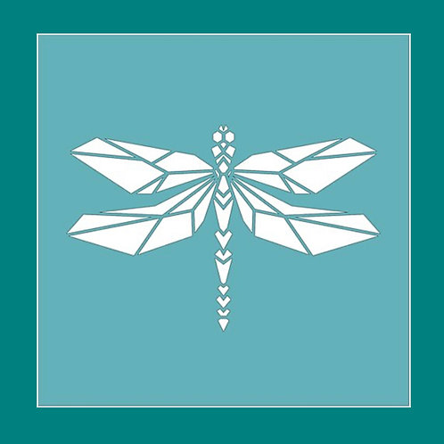 Geometric Dragonfly Stencil by Funky Fossil