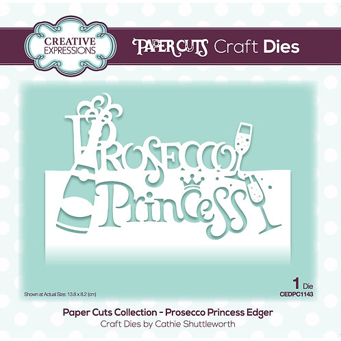 Prosecco Princess Paper Cuts Edger Die