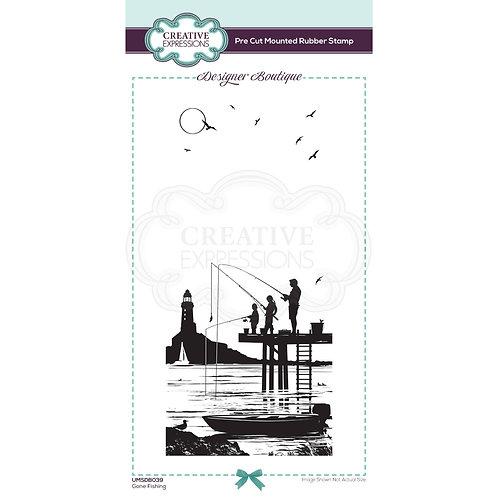 Gone Fishing Stamp by Designer Boutique