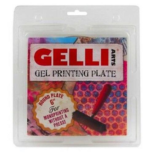 """GELLI ARTS GEL PRINTING PLATE 6"""" ROUND"""