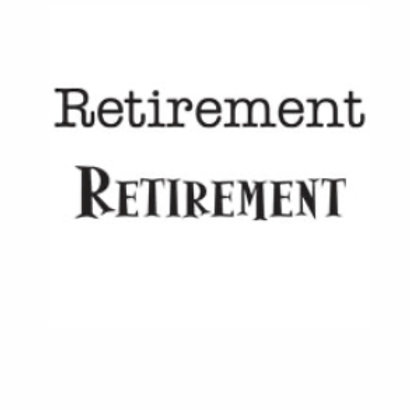 Retirement Word Stamp by Woodware