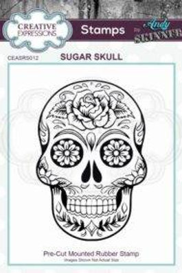 Sugar Skull Stamp by Andy Skinner