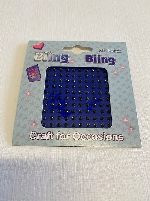 Black 3 mm Self Adhesive Acrylic Gems -100 pack