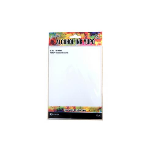"ALCOHOL INK YUPO 5X7"" TRANSLUCENT SHEETS 10PK"