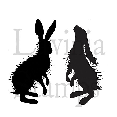 Woodland Hares Stamps by Lavinia