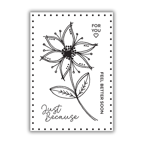 JULIE HICKEY JUST BECAUSE STAMP SET