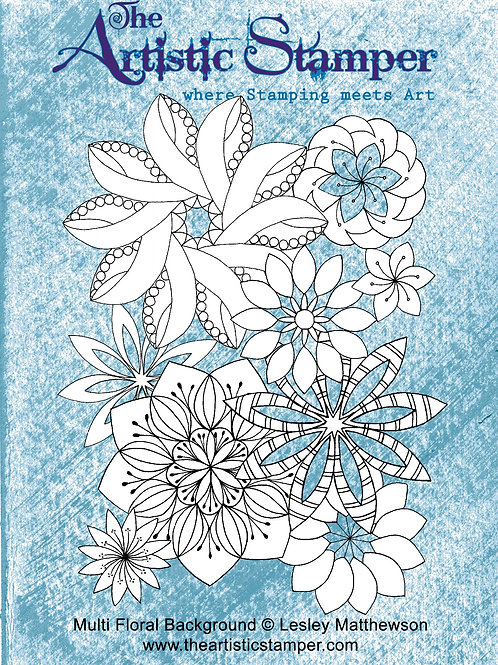 Multi Floral Background Large Stamp by Lesly Mattewson The Artistic Stamper
