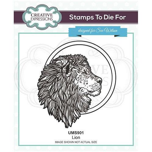Lion Pre Cut Stamp by Sue Wilson