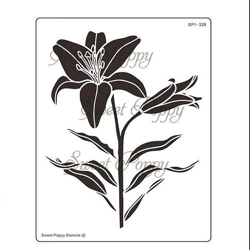 Sweet Poppy Stencil Lily