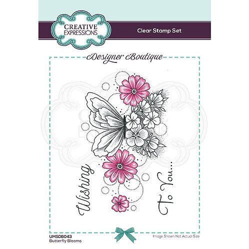 Butterfly Blooms A6 Clear Stamp by Creative Expressions