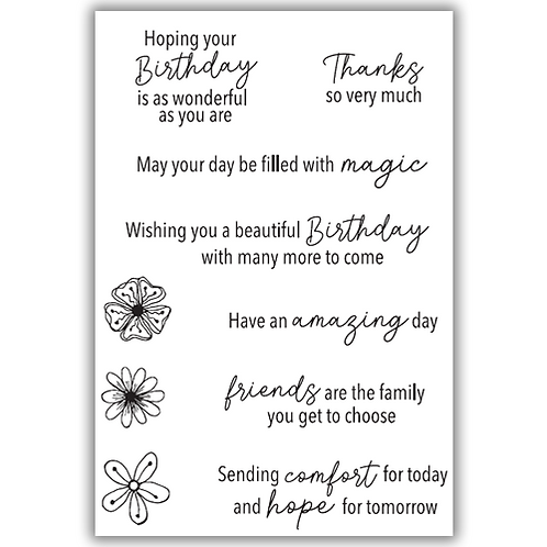 JULIE HICKEY POSITIVE WISHES STAMP SET