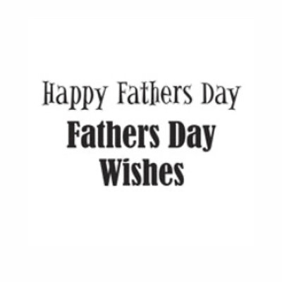 Happy Fathers Days Word Stamp by Woodware
