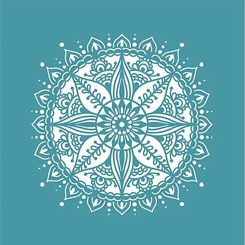 Indian Mandala Stencil by Funky Fossil