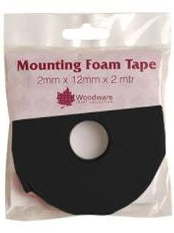 Black  Mounting Foam 2mm Tape - Woodware