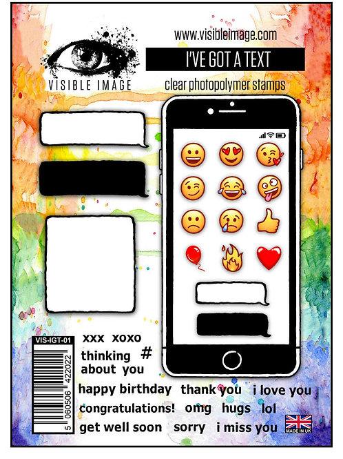 I've Got A Text Stamp - Visible Image