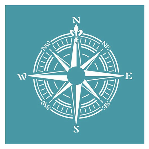 Compass Stencil by Funky Fossil