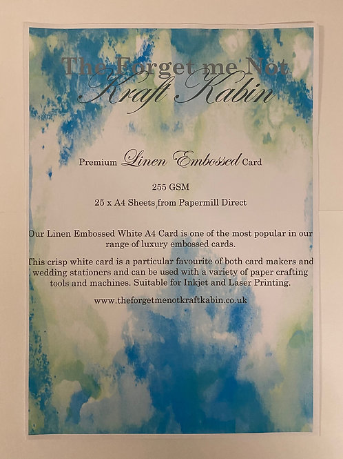 A4 Linen Embossed Card by Papermill Direct  25 Sheets