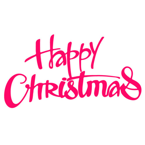 Happy Christmas Cutting Die by Presscut