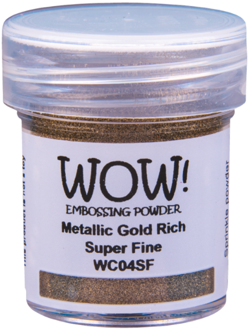 Metallic Gold Rich Super Fine Embossing Powder