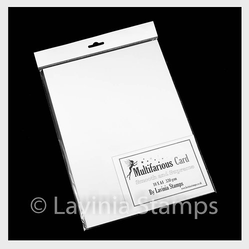 A4 Multifarious Smooth Card 10 Sheets by Lavinia