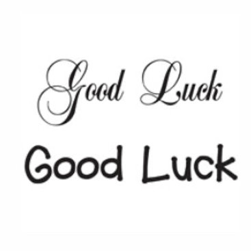 Good Luck Word Stamp by Woodware