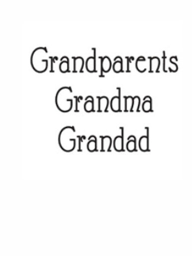 Grandparents Word Stamp by Woodware