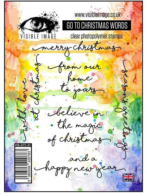 Go To Christmas Words Stamps by Visible Image