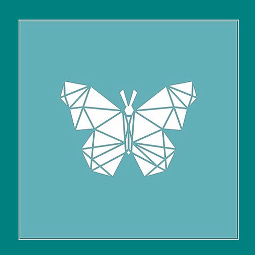 Geometric Butterfly Stencil by Funky Fossil