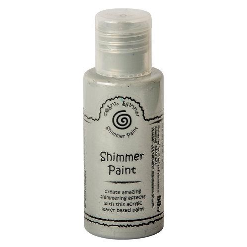 Cosmic Shimmer Shimmer Paint Silver 50ml