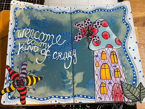My Kind of Crazy Journal Workshop with Sharon Saturday 3rd April 10am