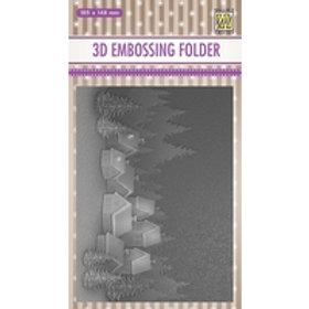 Snowy Village 3D Embossing Folder by Nellie Snellen