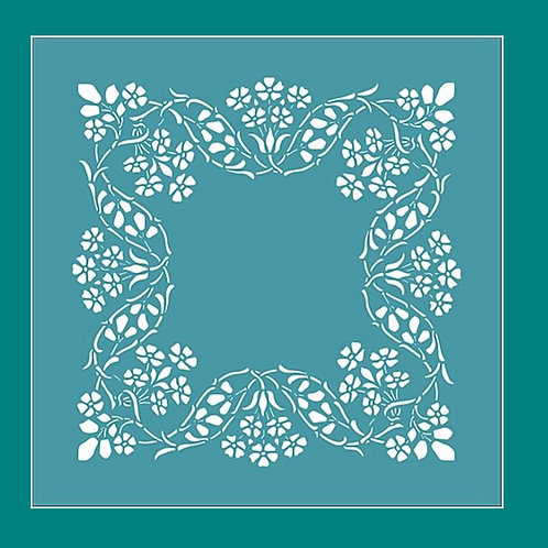 Flower Frame Stencil by Funky Fossil