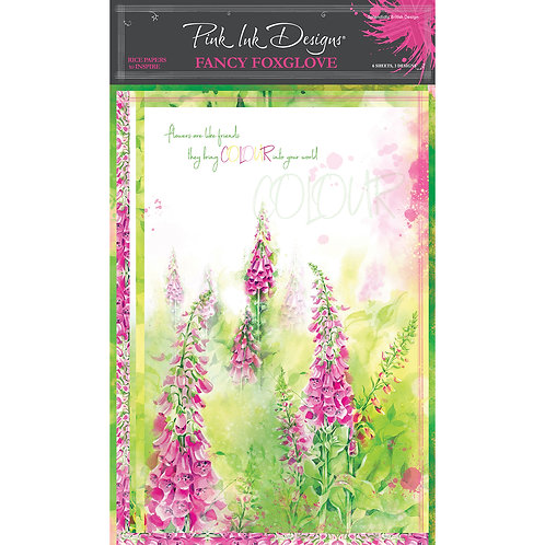 Pink Ink Designs Fancy Foxglove A4 Rice Papers