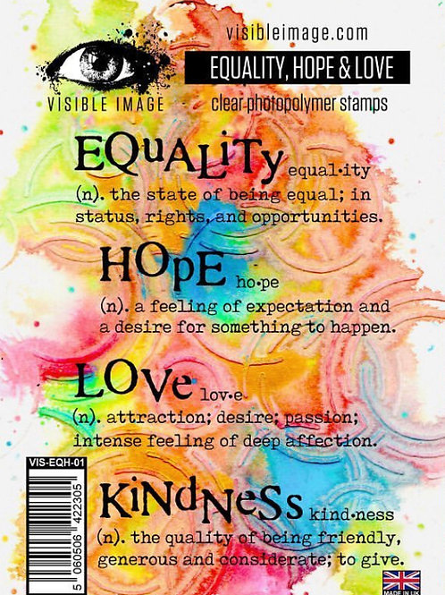 Equality, Hope & Love Stamp - Visible Image