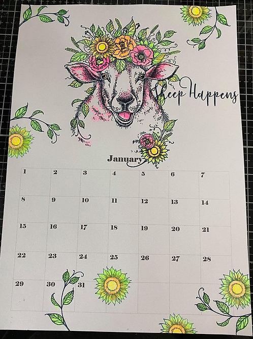 Calendar Club with Sharon Saturday 17th April 2021 10am