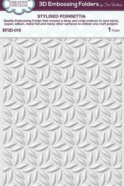 Stylised Poinsettia Embossing Folder