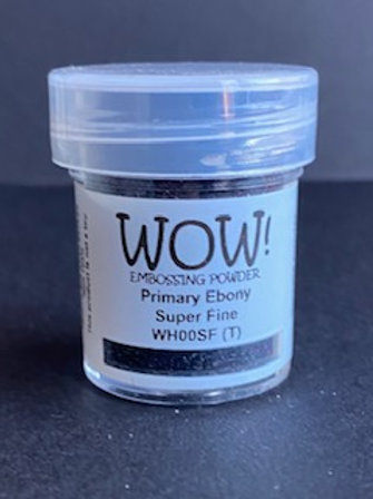 Embossing Powder - Primary Ebony Super Fine