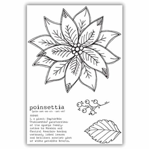 JULIE HICKEY POINSETTIA STAMP SET