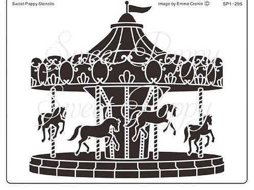 Carousel Stencil by Sweet Poppy