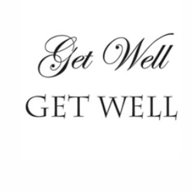 Get Well Word Stamp by Woodware