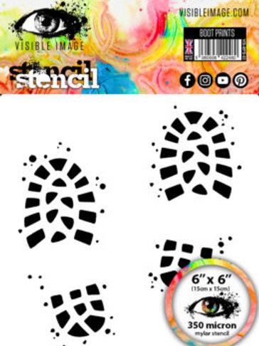 Boot Prints Stencil - Visible Image