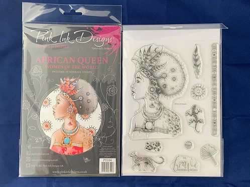 Pink Ink Design Stamps, African Queen, Women of the World