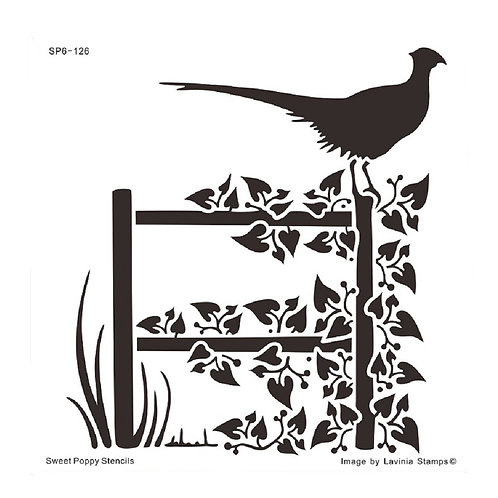 Inspire (Pheasant) Stencil by Sweet Poppy