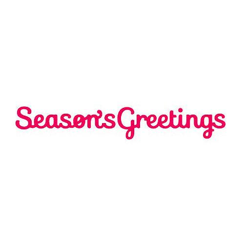 Seasons Greetings Die Presscut