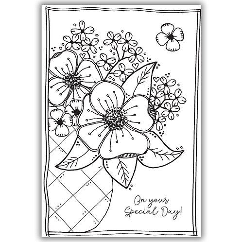 JULIE HICKEY FLOWERS FOR JEAN STAMP SET