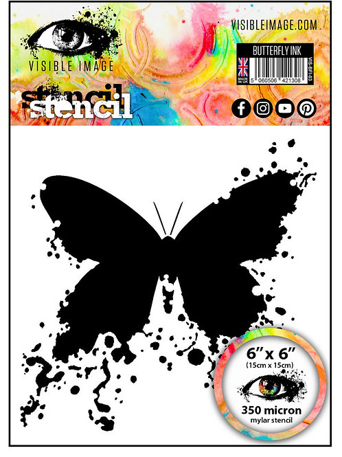 Butterfly Ink Stencil - Visible Image