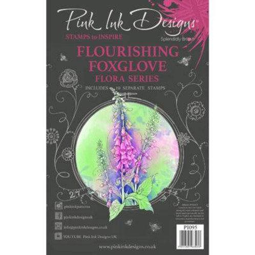 Flourishing Foxglove Stamp by Pink Ink