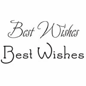 Best Wishes Word Stamp by Woodware
