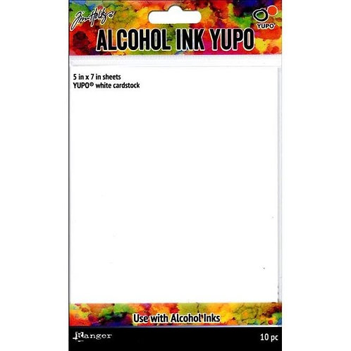 "ALCOHOL INK YUPO 5X7""WHITE CARDSTOCK 10PK"