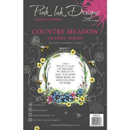 Country Meadow Stamp by Pink Ink